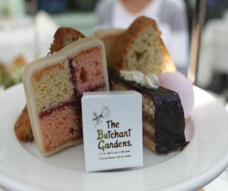 Butchart Gardens high tea