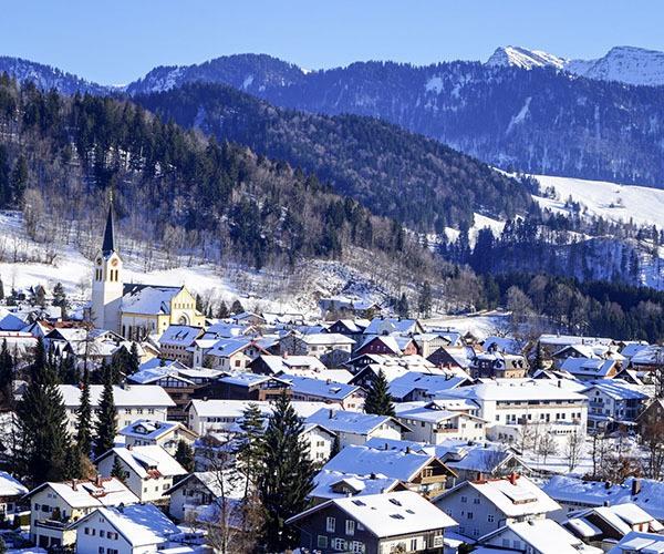 Snowy resort Germany