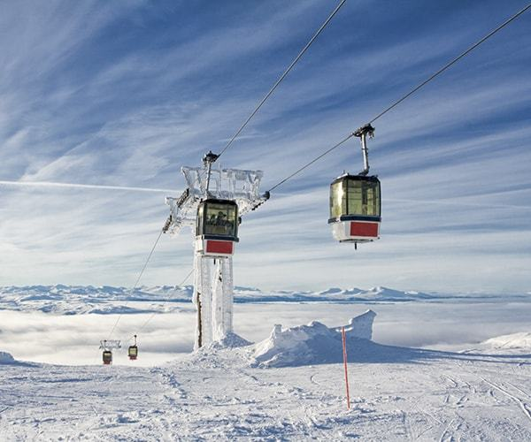 Two ski lifts in Are Sweden